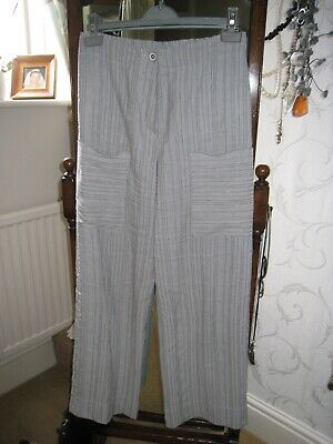 £29.99 • Buy Crea Concept White And Grey Trousers And Matching Jacket Size 10