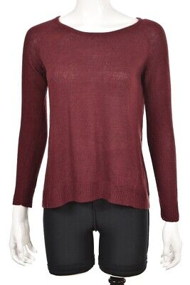 $24.99 • Buy Millau Womens Sweater Size S Burgundy Red Crewneck Long Sleeve Cotton Top