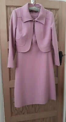 £23 • Buy VINTAGE 1960s Pink Jackie O Dress & Jacket  Size 8 10 12 Couture, Wedding Party