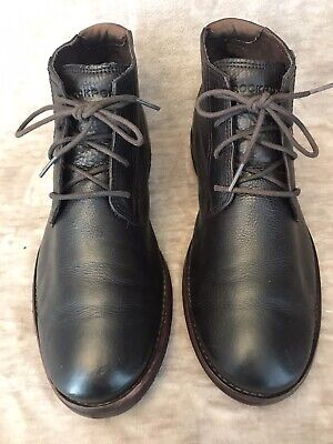 £33 • Buy Men's ROCKPORT Black Leather Chukka Boots Size Uk 6. Excellent Condition RRP £89