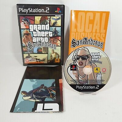 £7.99 • Buy Grand Theft Auto San Andreas PS2 Sony Playstation 2 Game PAL UK Complete W/Map