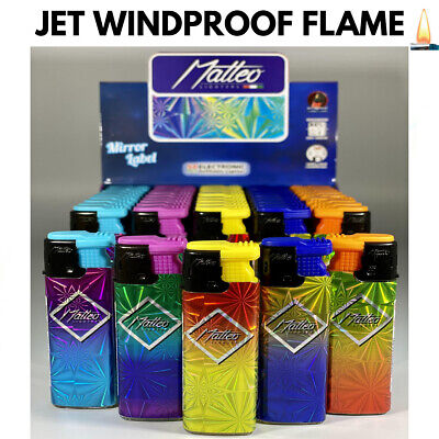 £3.75 • Buy 4 X RAINBOW CIGAR WINDPROOF TURBO JET FLAME ELECTRONIC LIGHTER (Refillable)