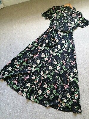£10 • Buy F&F Maxi Floral Button Front Dress Size 10