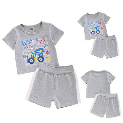 £8.69 • Buy Summer Kids Kids Baby Boys Short Sleeve T-shirt Tops+Shorts Outfits Clothes Suit