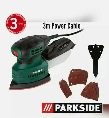 £19.50 • Buy Parkside 160W Detail Electric Sander + Sandpaper & Collection Box PMS 160 A1 NEW