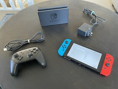 AU153.50 • Buy Nitendo Switch Console HAC-001 With Pro Controller-Dock & Memory Card 🔥🔥🔥