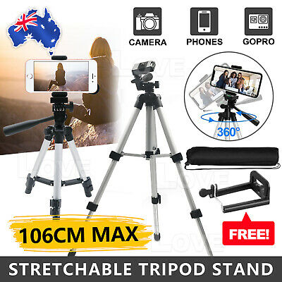 AU13.95 • Buy Professional Camera Tripod Stand Mount + Phone Holder For  IPhone Phone Samsung