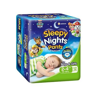 AU11.95 • Buy BabyLove Sleepy Nights Pants 2 To 4 Years (12 To 18kg) X 12 (Limit 2 Per Order)