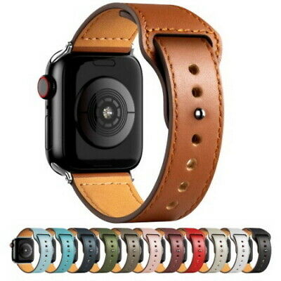 $ CDN11.02 • Buy PU Leather Strap For Apple Watch Band For IWatch Series SE/6/5/4/3/2/1