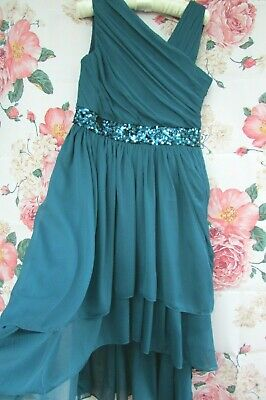 £24.99 • Buy BNWT Teal Floaty Bridesmaid Flower Girl Party Occasion Dress 12-13 MONSOON  £65
