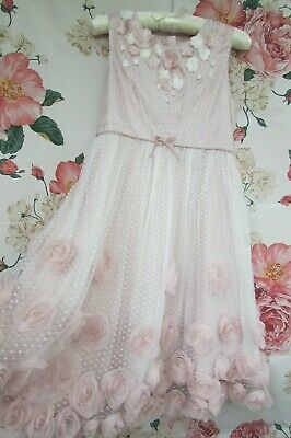 £16.99 • Buy Lilac Pink Floral Flower Girl Bridesmaid Party Occasion Dress 8-9 MONSOON £65
