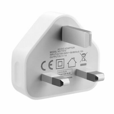 £2.99 • Buy USB Wall 3 Pin Power UK Mains Plug Charger Adapter Compatible With Mobile Phones