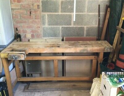 £95 • Buy Solid Wooden Carpenters Bench With Vice
