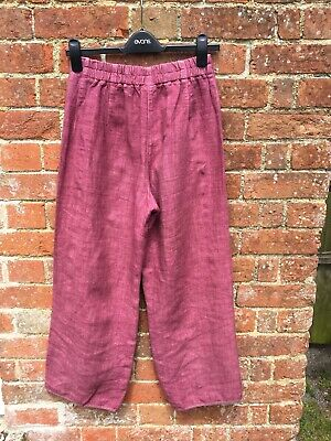 £7.50 • Buy Oska Linen Lilac Pink Trousers With Pockets