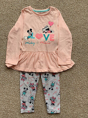 £2 • Buy Primark Girls Micky Minnie Mouse Outfit 18-24 Months