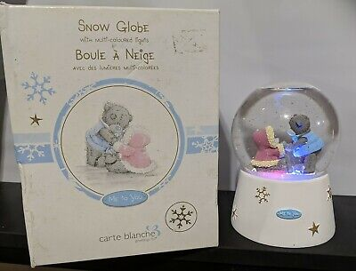 £14.51 • Buy Carte Blanche 'Me To You' Snow Globe With Multi-colored Lights Skating Bears