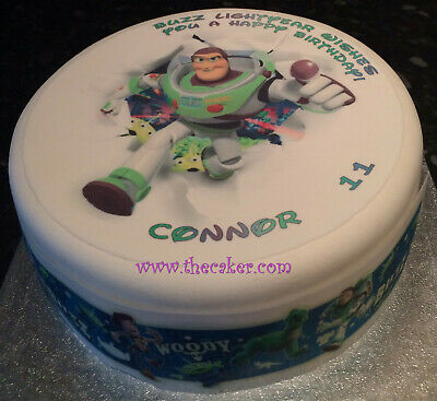 £5 • Buy Toy Story 05 Pre-cut Edible Icing Cake Topper Or Ribbon - Buzz Lightyear