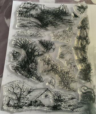 £2 • Buy Silicone Stamp Hobby Art Countryside Scene