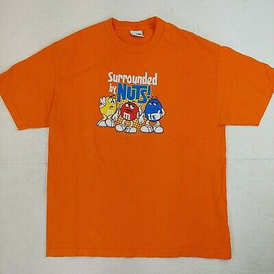 $24.57 • Buy Vintage M&M Chocolate Candy T-shirt Promo Surrounded By Nuts Size XL Colors