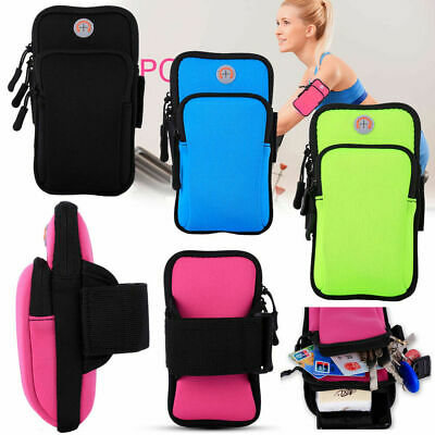 AU19.79 • Buy Universal Sports Running Gym Armbag Zipper Case Waterproof Pockets Phone Pouch