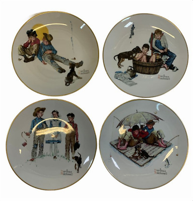$ CDN31.13 • Buy Norman Rockwell Collector Plates 1975 The Four Seasons Series Lot Of 4