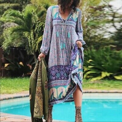 AU829 • Buy Spell & The Gypsy Collective - Original Spell Designs  Maxi Dress - Opal