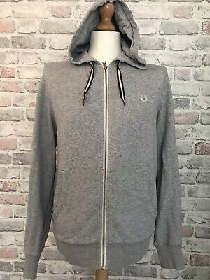 £22 • Buy Fred Perry Mens Grey  Full Zip Tracksuit Jacket Size Medium