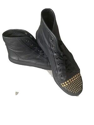 £40 • Buy Gucci Black Leather High Tops Size 39
