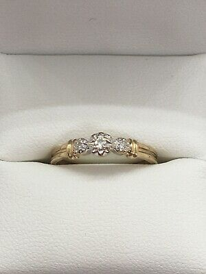 AU130 • Buy 9ct Yellow Gold And Diamond Ring