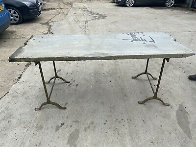 £150 • Buy Victorian Large Slate And Iron Table