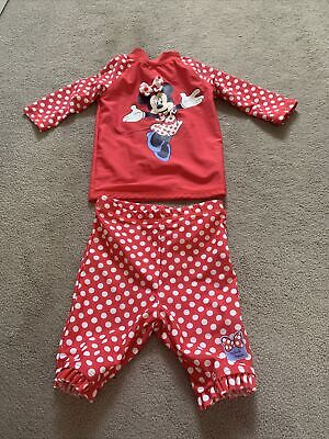 £2 • Buy Baby Girls Red Minnie Mouse Swim Set 9-12 Months