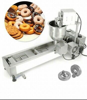 £720 • Buy Commercial Donut Maker Wide Oil Tank 3 Sets Mold Making Machine Automatic 220V