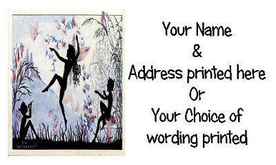 £2.50 • Buy 21 X Personalised Address Labels Stickers -  VINTAGE RETRO DANCING FAIRY