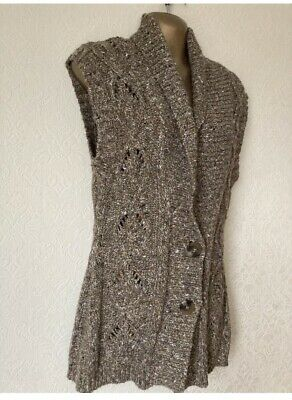 £2.50 • Buy Brown Chunky Knit Cardigan Size 12