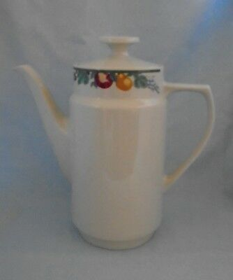 £15.99 • Buy Crown Dynasty Coffee Pot Fruits Design On Neck Apr H 9  Free P&P