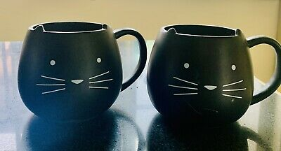 £10 • Buy NEXT Black Cat Shaped Mugs / Cups With Ears, Funny Gift, Cat Lover, Novelty Mug