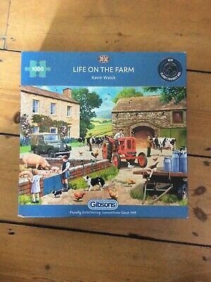 £3.50 • Buy Gibson Life On The Farm, Puzzle 1000 Piece