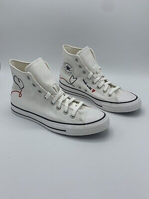 £72.10 • Buy Converse Chuck Taylor All Star High Size 8.5M/10.5W Made With Love White 171159F