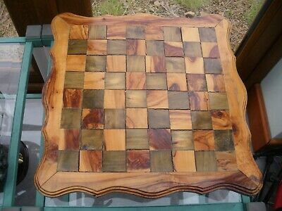 £33 • Buy Wooden Chess/ Board Games  Set Wooden Hand Made Table Top With 2 Drawers