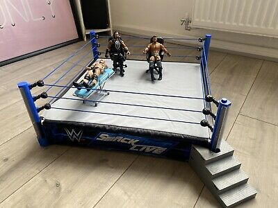 £79.99 • Buy WWE SMACKDOWN Live Main Event Ring And 3 Figures