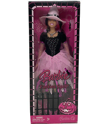 AU42.63 • Buy Barbie 2008 Halloween 12  Doll Barbie Fashion Spell Witch Costume/Hairbrush Pink