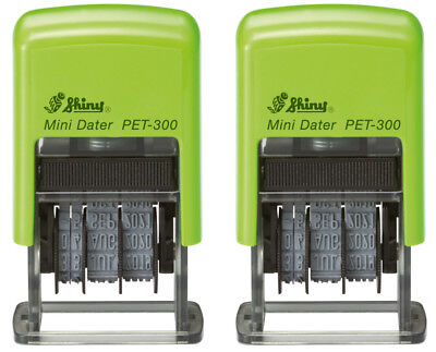 £13.49 • Buy Rubber Stamp Dater SHINY PET-300 MINI DATER SELF INKING RUBBER DATE STAMP X 2