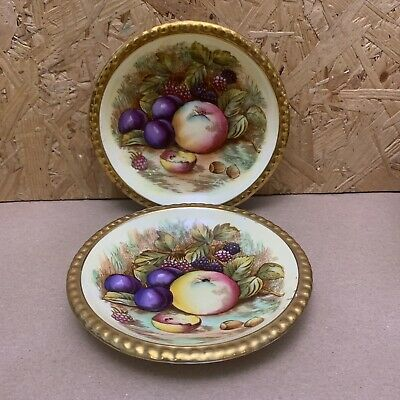 £7.99 • Buy 2 X Vintage Aynsley China Orchard Gold Painted Fruit Sweet Dishes Trinket Bowls