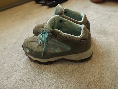 £15 • Buy The North Face HydroSeal Waterproof Gray/green Walking Trainers Boots Uk 3 Eu36