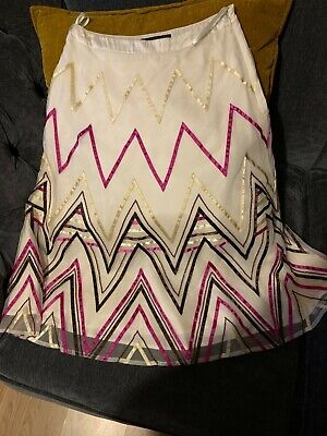 £1.10 • Buy Stunning Cream Patterned Skirt From Coast, Size 8. Knee Length