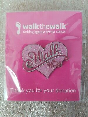 £3 • Buy Walk The Walk Uniting Against Breast Cancer Pin Badge Version 5