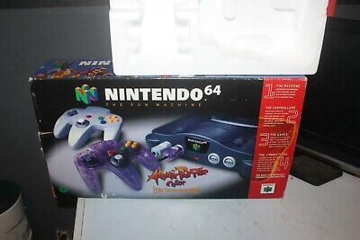 $ CDN26 • Buy Nintendo 64 N64 Atomic Purple Extra Controller Bundle Authentic Console BOX ONLY