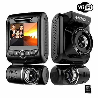 AU179.36 • Buy Dash Cam For Cars Front And Rear Dual Car Driving Camera Wifi Full HD 1080P With