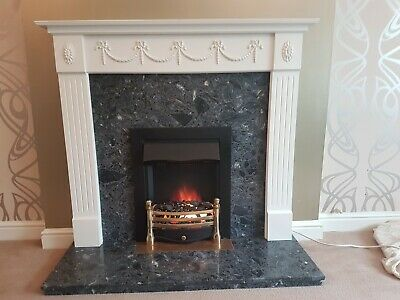 £12.20 • Buy Marble Fireplace Surround Including Electric Fire
