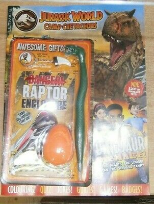 £11.49 • Buy Ultimate Magazine #10 2021 Jurassic World Camp Cretaceous +Toy Dino Tooth BagTag
